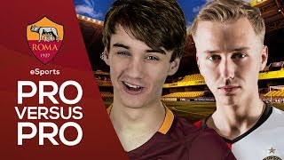 In our second installment of this new eSports series, Roma's Poacher takes on Feyenoord's professional FIFA player QuintenX…► Follow Roma eSports on Twitter: https://twitter.com/RomaeSportsSubscribe to AS Roma on YouTube: http://bit.ly/ASRoma_Subscribe to Roma Poacher on YouTube: http://bit.ly/2rrk15rWelcome to the official Youtube channel of AS Roma.Roma Network is the destination for Giallorossi, lifestyle and entertainment.Il canale ufficiale Youtube dell'AS Roma.Roma Network è il mondo dell'intrattenimento e del lifestyle per i tifosi giallorossi di tutto il mondo.Facebook: https://www.facebook.com/officialasromaGoogle+: https://plus.google.com/u/1/+asroma/Instagram: https://instagram.com/officialasroma/Twitter: https://twitter.com/OfficialASRoma