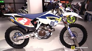 9. 2015 Husqvarna FE 450 - Walkaround - 2014 EICMA Milan Motorcycle Exhibition