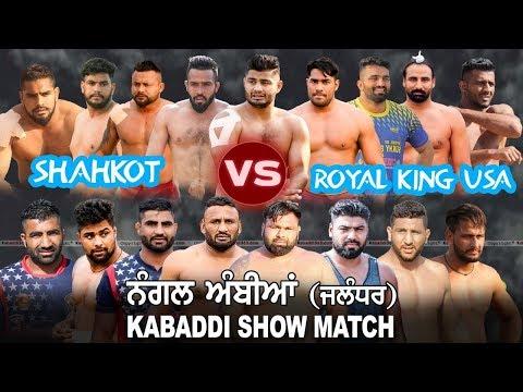 Nangal Ambian (Jalandhar) Kabaddi Show Match 10 May 2019