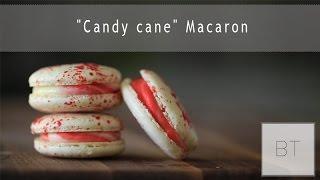 """Candy cane"" Macaron - YouTube"