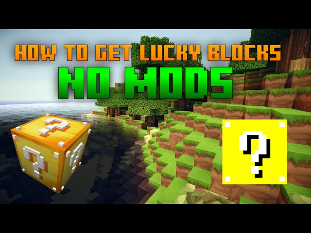 how to make a lucky block in minecraft ps3