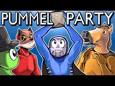 Pummel Party - REALLY FUN BOARD GAME! (Full Match) MOVIE TIME!