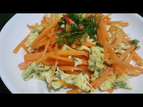 Cách làm cà rốt xào trứng món ngon mỗi ngày - Thời lượng: 10 phút.