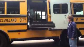 Landyn rides the bus