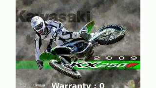 5. 2009 Kawasaki KX 250F Specification and Specs