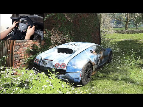 Rebuilding A Bugatti Veyron - Forza Horizon 4 (Steering Wheel + Shifter) Gameplay