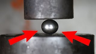 Video Experiment The Mighty Bearing Ball VS Hydraulic Press | The Crusher MP3, 3GP, MP4, WEBM, AVI, FLV September 2018