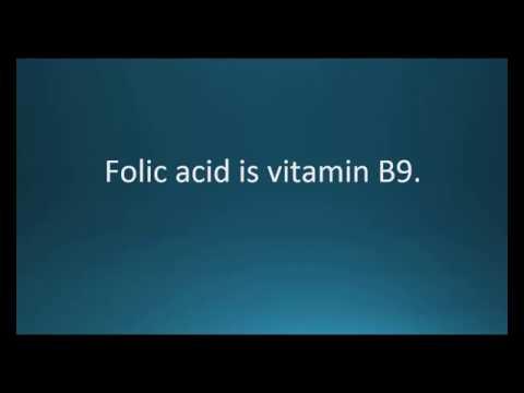 How to pronounce folic acid (Folate) (Memorizing Pharmacology Video Flashcard)