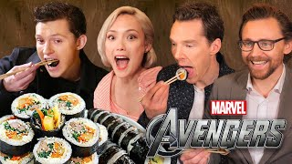Video AVENGERS Actors React to Korean Food!! MP3, 3GP, MP4, WEBM, AVI, FLV September 2018