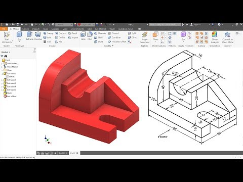 Autodesk Inventor Tutorial For Beginners Exercise 1