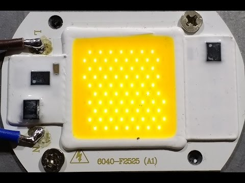 Driverless 50W LED teardown and schematic.