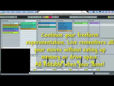 Ableton Live how to use VIDEO tools for DVJ VJ DJ A/V AV Music use DJ K-Tel