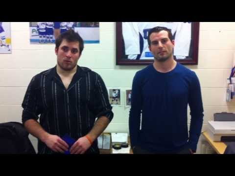 UNE Men's Ice Hockey: Interview following game vs. Saint Anselm