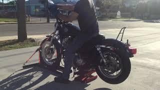 6. 2002 Harley Davidson Sportster Hugger XLH883H (black) 2556 Fallen Cycles