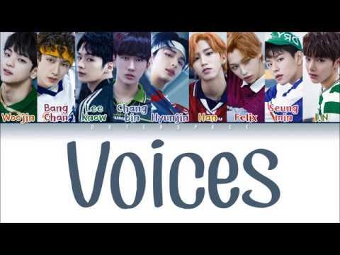 STRAY KIDS (스트레이 키즈) - VOICES (Color Coded Lyrics Eng/Han/Rom) (видео)