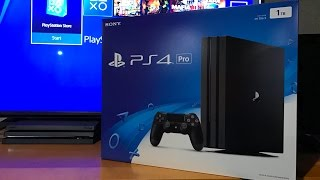 PS4 Pro Unboxing and Setup