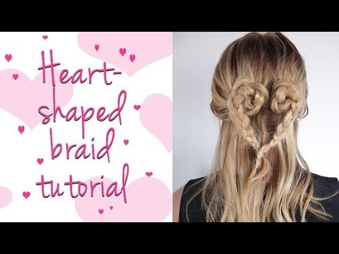 5-Minute Heart-Shaped Braid Tutorial For Valentine's Day