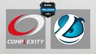 CS:GO - compLexity vs. Luminosity [Overpass] Map 2 - ESL Pro League Season 5 - NA Matchday 12