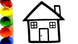 Cara Menggambar dan Mewarnai rumah mainan - Menggambar dan mewarnai mainan untuk anak-anak