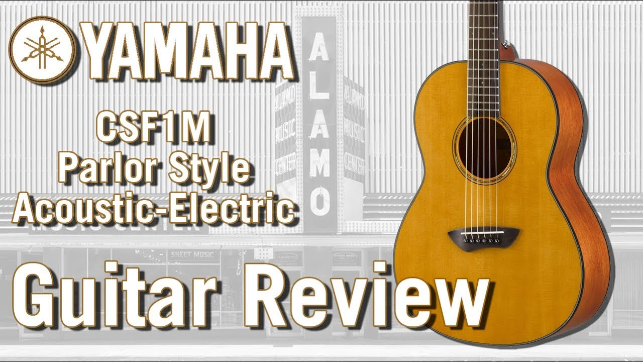 New For 2018 Yamaha CSF1M Acoustic Electric Guitar Review