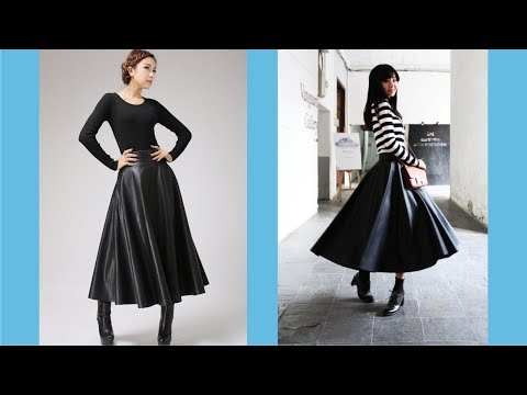 Amazing Faux Leather Maxi Skirt With New Style