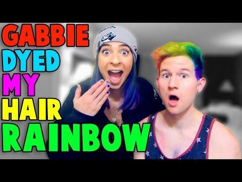THE GABBIE SHOW DYED MY HAIR RAINBOW
