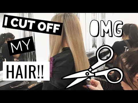 Hair cutting - CUTTING MY HAIR FOR THE FIRST TIME IN 10+ YEARS!  WHAT I EAT IN A DAY  Conagh Kathleen