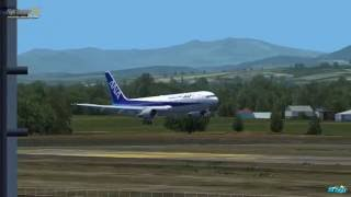 Naka-shibetsu Japan  city photos gallery : FSX Level-D767-300ER ANA Scenry nakashibetsu JAPAN