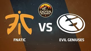 Fnatic против Evil Geniuses, Первая карта, DOTA Summit 9 LAN-Final