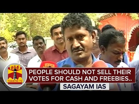 Dont-sell-your-votes-for-Cash-and-Freebies--Sagayam-IAS-Thanthi-TV