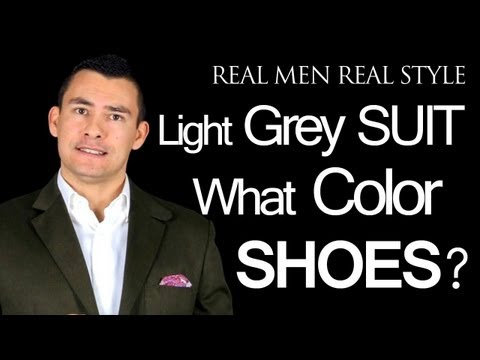 What Color Dress Shoes Does A Man Wear With A Light Grey Mens Suit – Male Style Tips Advice