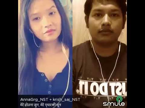 Video Mere dholna sun by NST krish saj +  NST AnnaGrg Smule sing karaoke download in MP3, 3GP, MP4, WEBM, AVI, FLV January 2017