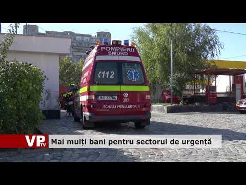 Mai mulți bani pentru sectorul de urgență