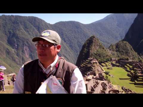 Machu Picchu day trip - our Tour Guide's Talk (CrossPoint Missions Team)