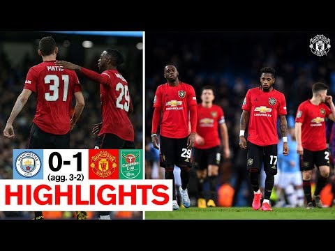 Highlights | Man City 0-1 Manchester United (Agg. 3-2) | Carabao Cup