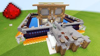REDSTONE DEFENSE HOUSE IN MCPE (Minecraft Pocket Edition)