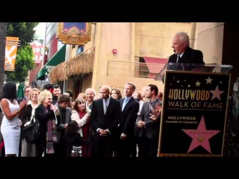 Malcolm McDowell Walk of Fame Ceremony
