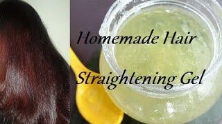 Homemade Hair Straightening Gel - YouTube