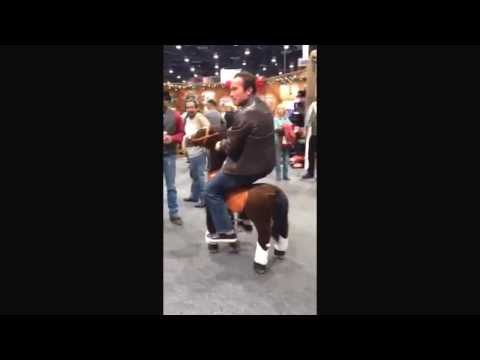 WATCH: Arnold Schwarzenegger riding a..... toy pony?