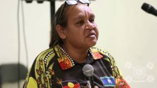 Barb Shaw speaks at StandUp Conference 2017. A meeting on the 10th anniversary of the NT Intervention about the suffering of the last decade, and the plans for continued resistance. 10 Years Too Long. Barb Shaw was born in Mparntwe-Alice Springs of Kaytetye-Arrernte and Warlpiri-Warramungu heritage and lives at Mt Nancy town camp. She has been standing up against the injustices of the Intervention since 2007, highlighting the negative effects of the Intervention, and that it needs to stop. Barb is currently working with the Royal Commission into the Protection and Detention of Children in the Northern Territory, and is co-chair of the NT Aboriginal Housing Body. Friday 23rd June 2017