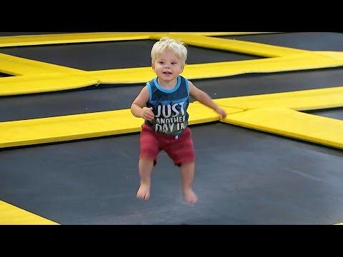 Crazy jumping toddler