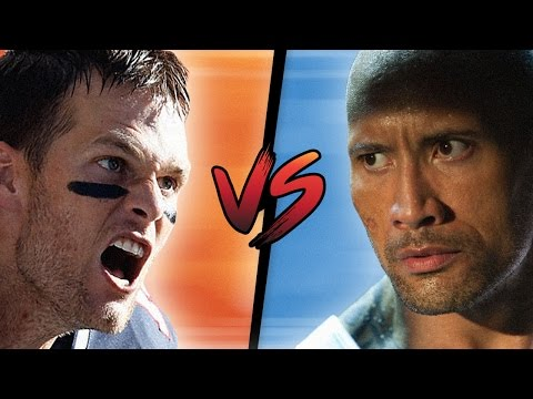 TOM BRADY TAKES ON THE ROCK