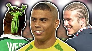 50 Worst Footballers' Haircuts | Ronaldo, Beckham & Neymar! by Football Daily