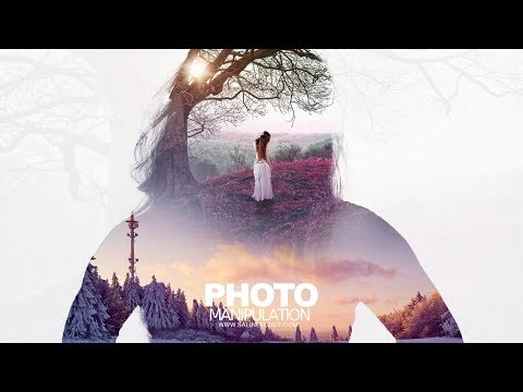 EP186 เรียน Photoshopฟรี ตัดต่อภาพ กับ SalineeChot