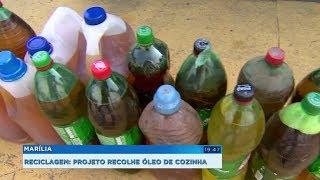 Projeto recolhe óleo de cozinha usado para reciclagem