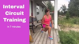 7 Minute Interval Circuit Training for Quick Metabolism Boosting