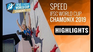 IFSC Climbing World Cup Chamonix 2019 - Speed - Highlights by International Federation of Sport Climbing