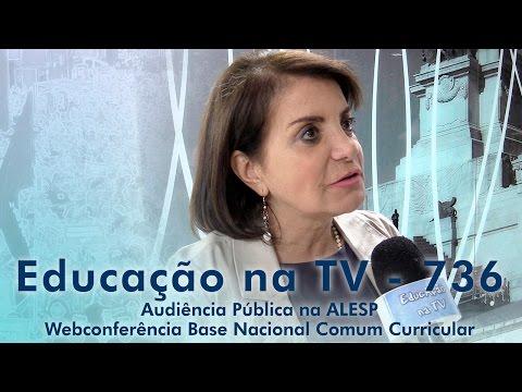 Audiência Pública na ALESP / Webconferência Base Nacional Comum Curricular