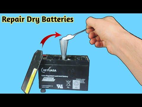 Battery repair - How To Repair Dry Batteries At Home