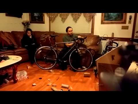 Motobecane Mirage SPORT bicycle unboxing and assembling part 2